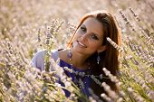 Beautiful Young Woman On Lavander Field - Lavanda Girl