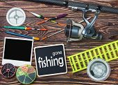 Fishing Tackle And Photoframe