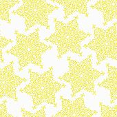 Seamless pattern with decorative doodle ornamental stars