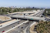 LOS ANGELES, CALIFORNIA - August 17, 2014:  Sunday afternoon traffic on Los Angeles's busy San Diego