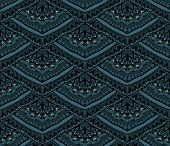 Dark Ethnic Seamless Pattern