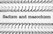 stock photo of sadism  - Close up of Sadism and masochism text - JPG
