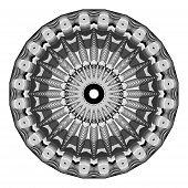 Indian Pattern Monochrome Mandala