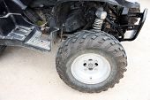 Car Wheel Of Atv.