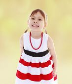 girl in red beads