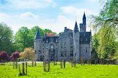 Beautiful view of Bornem Castle near Antwerp
