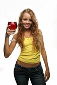 Girl Holding A Glass Of Wine