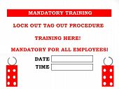 Lock Out Tag Out Training Sign