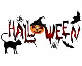 stock photo of sweeper  - Halloween banner  - JPG