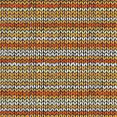 Seamless pattern with colorful knitted stripes