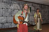 MUSKOGEE, OK - MAY 24: A husband and wife duo entertain the crowd at the Oklahoma 19th annual Renais