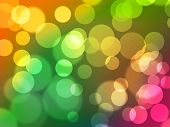 Abstract Digital Bokeh Background