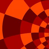 Abstract Red Orange Background - Mosaic Pattern