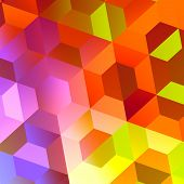 Abstract Colorful Hexagons Background - Web Design