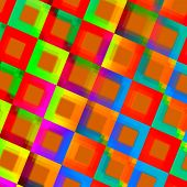 picture of trippy  - Abstract Colorful Squares Background  - JPG