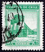 Postage Stamp Chile 1939 Copper Mine
