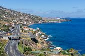 Island Madeira With Highway Along Santa Cruz And A View At The Airport
