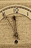 Old Clock Full Frame