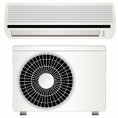 Air conditioner vector illustration, isolated