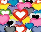 Textura de padrão do céu de corações