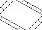 Film strip template card, movie theater frame corners