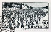 Ski Race Stamp
