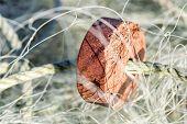 A Closeup Of A Fishing Net