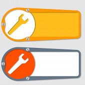 Set Of Two Boxes For Any Text With Spanner