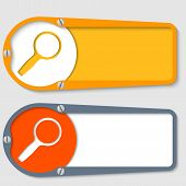 Set Of Two Boxes For Any Text With Magnifier