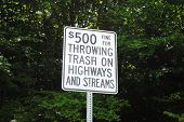 Sign For Illegal Trash Disposable