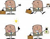 Businessman Dude Cartoon Character 2  Collection Set