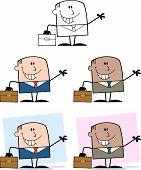 Businessman Dude Cartoon Character 10  Collection Set