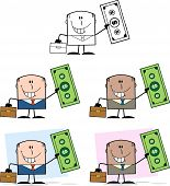 Businessman Dude Cartoon Character 8  Collection Set