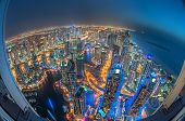 The beauty of Dubai marina just from the top