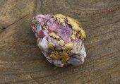 Gold nugget with inclusions of quartzite.