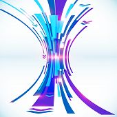 Blue abstract futuristic vector background