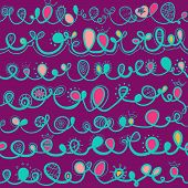 Seamless Pattern With Ligature.
