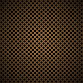 light brown metal background with round hole and reflection