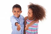 African American Boy And Girl Making Thumbs Up Gesture - Black People