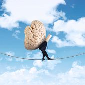 Anonymous Businessman Carrying Brain 1
