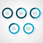 Vector Progress Bars For Website And Applications. Infographic Elements
