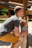 Little Boy Needs Father's Help