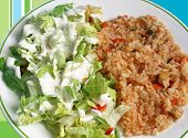 Rice And Salad