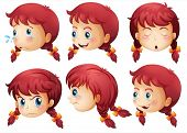 Illustration of a girl expressions