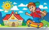 Image with school boy theme 2 - eps10 vector illustration.