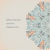 Ornamental round pattern with drops. Vector illustration