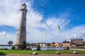 Lighthouse and cityscape of Karlskrona