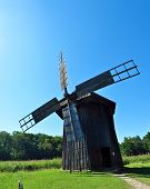 pic of sibiu  - sibiu romania ethno museum wood wind mill - JPG