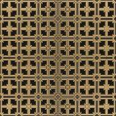 3D Grid In Brass