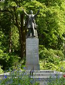 A Statue of Governor General Stanley in Stanley Park, Vancouver.